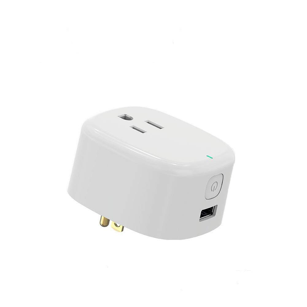Wi-Fi Mini Timing Smart Plug, With USB Outlet, No Control Center, On the Phone Through the APP Control Device Switch, UL Certification & FCC,RoHs,Work With Amazon Alexa & Google Home