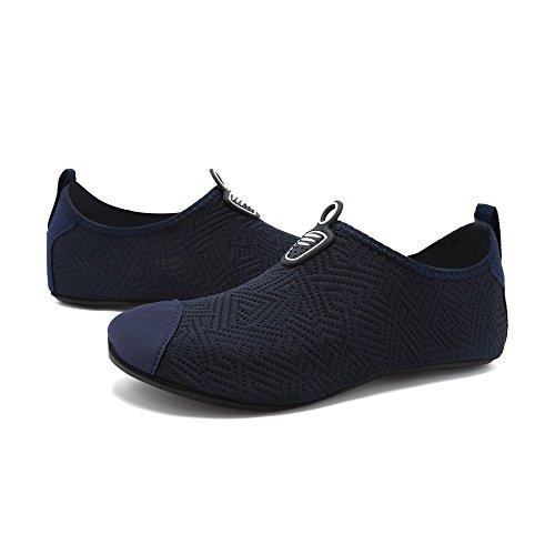 Fonc Bleu D'eau Chaussettes Hommes Bybetty Plage Schage marine Plonge Chaussures Femmes Sous Rapide Natation Yoga Respirant Unisexe De waqfATF