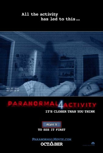 Paranormal Activity 4 (2012) 27 x 40 Movie Poster - Style A by MG Posters