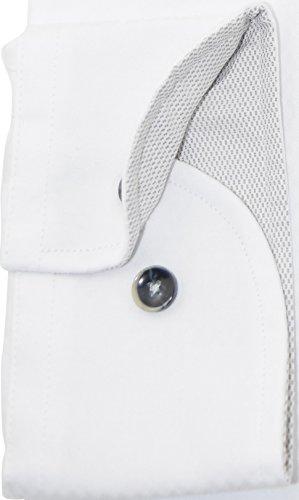 bugatti Hemd modernfit weißes Hemd mit Druck langarm Button-Down Kragen ohne Tasche Size XXL
