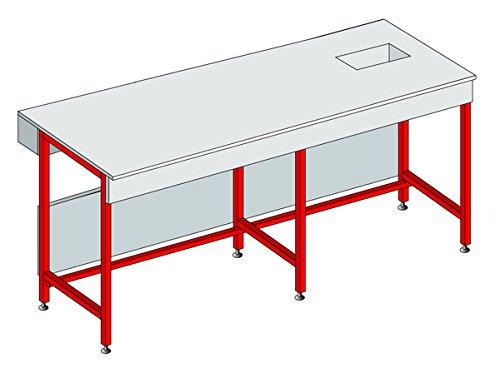 Equip Lab, peso 374253 tavolo altezza 900 mm, P 750 mm L 600 mm peso 374253tavolo altezza 900mm P 750mm L 600mm EQUIP LABO