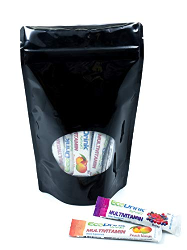 EcoDrink Naturals - Naturally Sweetened Complete Multivitamin Mix Drink - 24 Count Sample Pack