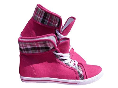 Damen Freizeitschuh, Schuh, Strassenschuh, Leinenschuh pink Pink
