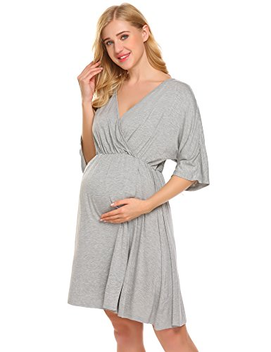 Ekouaer Nursing Gown Womens Hospital Nightgown Maternity for sale  Delivered anywhere in USA