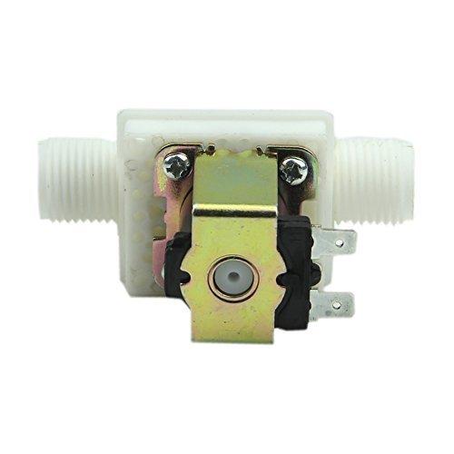 HeroNeo® Electric Solenoid Valve Magnetic N/C Water Air Inlet Flow Switch 1/2