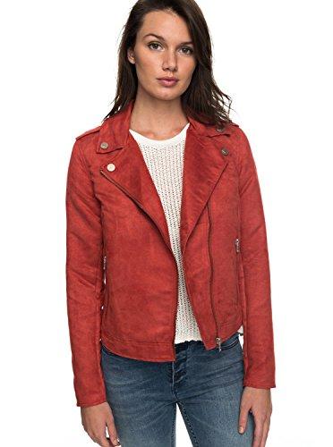 Roxy Womens Roxy Love Spell - Faux Suede Biker Jacket - Women - S Tandoori Spice S by Roxy