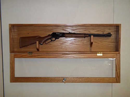 Locking Gun Display Case for 30-30 by oakwoodgunracks.com