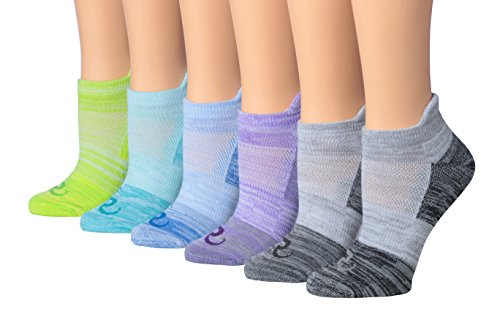 Ronnox Women's 6-Pairs Low Cut Running & Athletic Performance Tab Socks