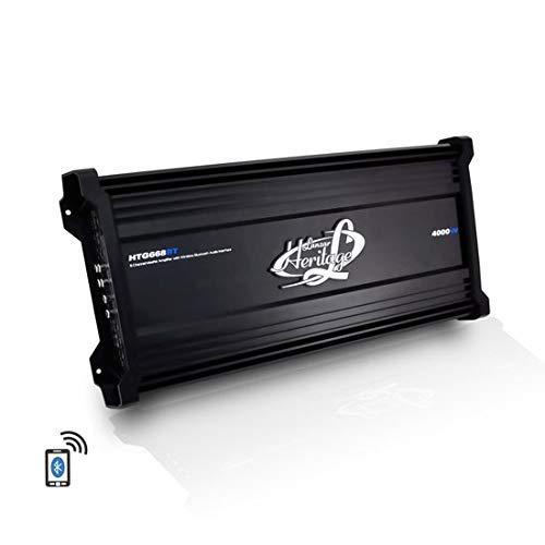 Lanzar Amplifier Car Audio, 4,000 Watt, 6 Channel, 2 Ohm, Bridgeable 4 Ohm, MOSFET, RCA Input, Bass Boost, Mobile Audio, Amplifier for Car Speakers, Car Electronics, Wireless Bluetooth (Renewed)