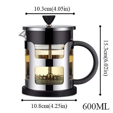 AQANATURE - Cafetera de acero inoxidable, 1000 ml, con filtro de ...