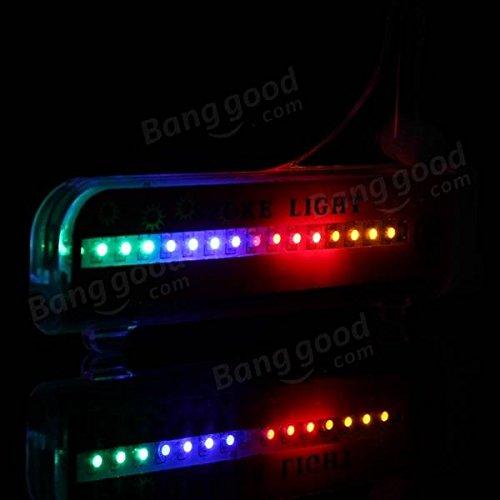 PhilMat Bici bicicleta ruedas de coche neumáticos habló LED se enciende la lámpara de noche en bicicleta colorido