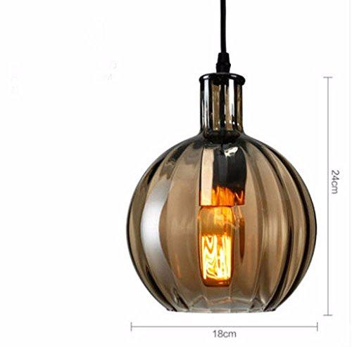 Nordic simple vidrio colorido Droplight Retro LED Bar Cafetería Restaurante balón redondo lámpara colgante de vidrio...