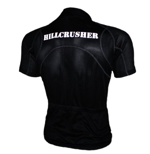 Astek Black Reflective Hillcrusher 3 Pocket Top Cycling Jersey (L) (Spf Cycling Jersey)