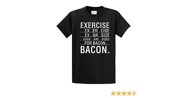 41KKUrp9jWL._SR600%2C315_PIWhiteStrip%2CBottomLeft%2C0%2C35_PIStarRatingFOURANDHALF%2CBottomLeft%2C360%2C 6_SR600%2C315_SCLZZZZZZZ_ teeshirtpalace exercise eggs are sides for bacon black amazon com