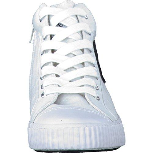 s.Oliver Herrenschuhe 5-5-15205-28 Modischer Herren Freizeitschuh, Sneaker, High Top Sneaker, Sommerschuh mit Schnürung White
