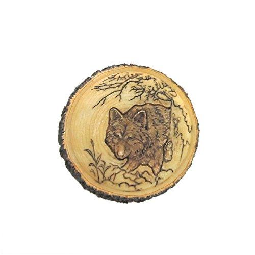 Carved Wood Trinket (Wolf Faux Carved Wood Trinket Box)