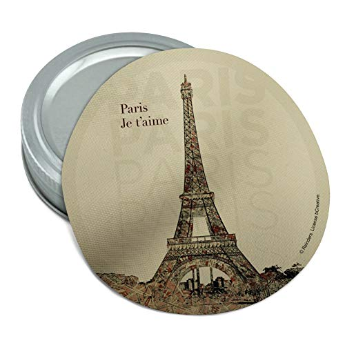 Paris, je t'aime I Love You Eiffel Tower City Map Round Rubber Non-Slip Jar Gripper Lid Opener