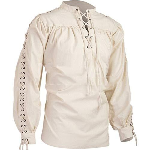 Men's Long Sleeve Gothic Shirt Ethnic Style Retro