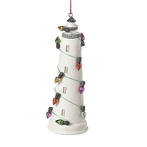 (Midwest-CBK Decorated Lighthouse Ornament 899168 Coastal Christmas)