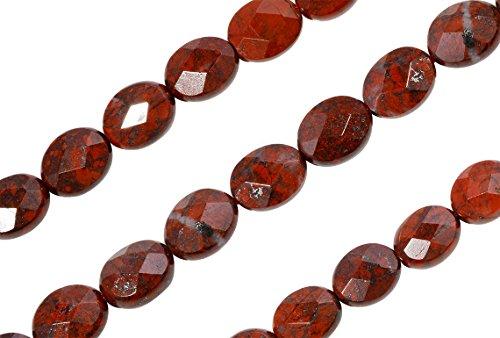 1 Strand 16 Inch 8x10 mm Natural Poppy Jasper Gemstone Beads ()