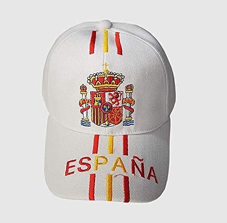 Q&J Gorra con Escudo de España Color beig - Talla Adulto ...