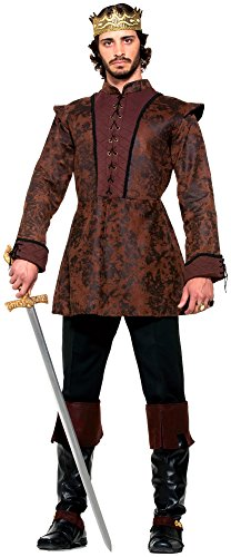 [Forum Novelties Men's Medieval King Costume Coat, Brown, Standard] (Medieval Mens Costumes)