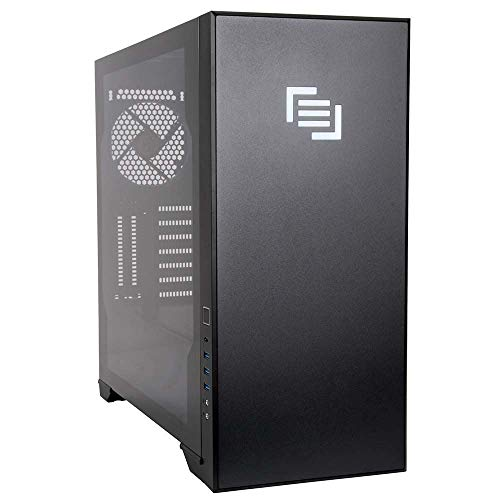 MAINGEAR Vybe RGB Tempered Glass ATX Mid-Tower Computer Case – Black