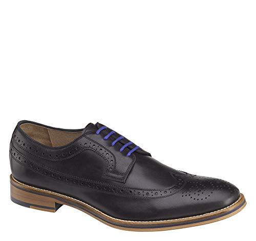 Johnston & Murphy Men's Conard Wingtip Shoe Black Italian Calfskin 13 M US ()