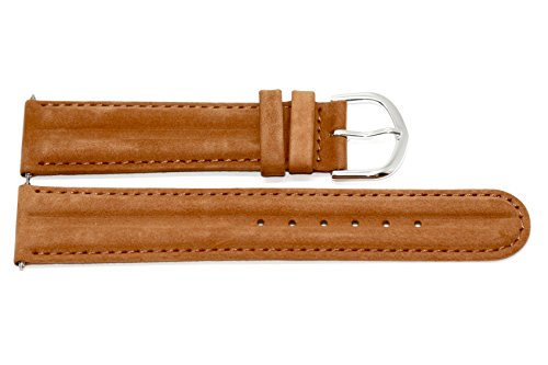 20mm Brown Distressed Leather Band Fits Timex Expedition Camper Watches