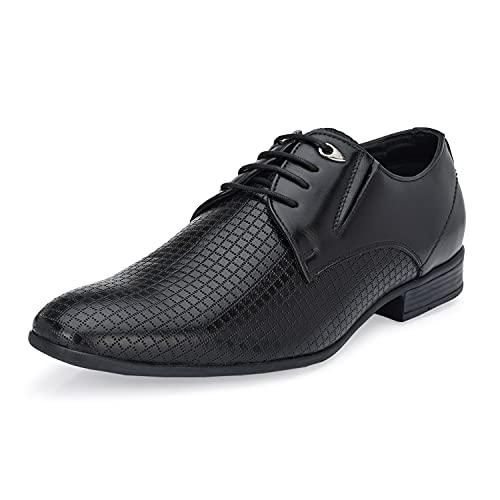 Hitz Men Derby Black Party Shoes