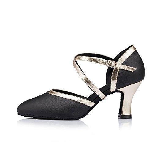 Bal Miyoopark Black Salle De gold Heel 7cm Femme ESfrSCxwcq