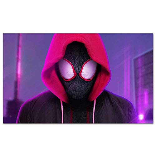 Canvas Prints Posters Miles Morales Spiderman Spider Home Decor for Living Room Office Bedroom Pictures 47x 31 inches