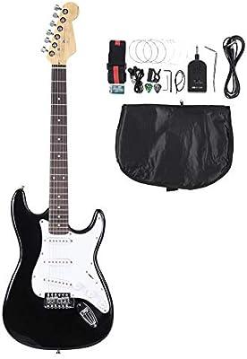 Guitarra Electrica de 6 Cuerdas de Madera para Principiante ...