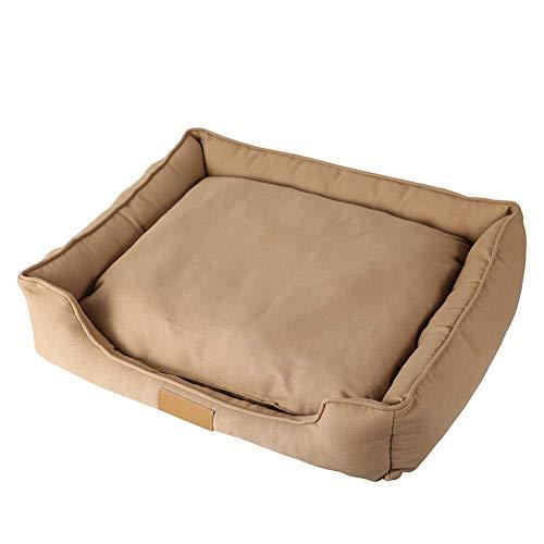 18cm Marrone Morbidi Formato Fuxitoggo Gatti 55 Pet Rimovibile colore 65 Cuscino Bed Rettangolari Del Cani Tela Con Dimensione Scelta Cotone Di Uwd7xBwqr