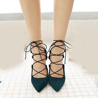 Sandales Up CN35 EU36 Talon Femmes UK3 5 Occasionnels 5 Lace US5 Rouge Chaussures Club D'Été Zormey Microfibre Aiguille Bleu Noir Marine BqC0df