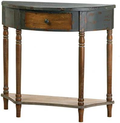 Wood Half-Moon Hall Table 34x13x32