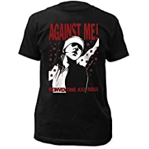 Against Me! Reinventing Axl Rose Fitted Black Men's Cotton Shirt Black