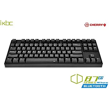 1a43dd988b7 iKBC CD87BT Wired + Wireless 2 in 1 Mechanical Keyboard with Cherry MX  Brown Switch for iOS, Android, Windows and Mac (Bluetooth 3.0, PBT OEM  Profile ...