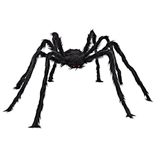 Halloween Decoration Spider-1Pieces 50 Inch Black Huge Spider Used for Halloween or Parties Decoration (1 Spider) (1 Decorations Halloween)