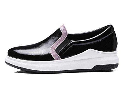 Donne YCMDM donne spesse calze tacchi alti scarpe Carrefour scarpe grandi dimensioni 40-43 scarpe singole , black , 42