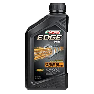 Castrol 06244 EDGE A3/B4 0W-30 Advanced Full Synthetic Motor Oil, 1 Quart, 6 Pack