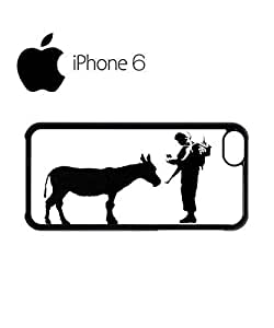 Banksy Soldier Donkey Asking ID Swag Mobile Phone Case Back Cover for iPhone 6 Black