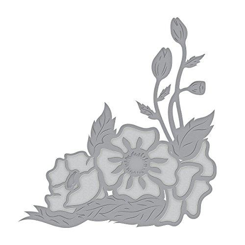 Spellbinders Die D-Lites Corner Poppies Etched/Wafer Thin Dies - Die Corner