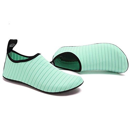 Fantagio Leggero Da Donna E Da Uomo Aqua Water Shoes Quick-dry Breather Sport Skin A Piedi Nudi Antiscivolo Multifunzione L.green