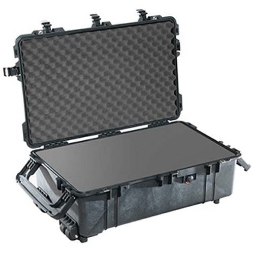 Pelican 1670 Large Case with Foam, 7.39'' Bottom Depth, Black by PELICAN PRODUCTS- CASES