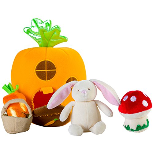 Berchirly Cute Carrot Bunny Gift Set Educational Charpie Toy For Babys Orange (Gift Busket)