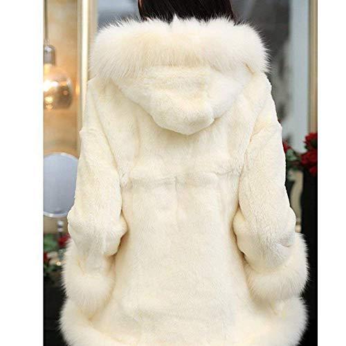 Veste Hiver Capuche Blanc À Automne Femme À Fourrure Capuche C Elegant Fashion En rwnBr4