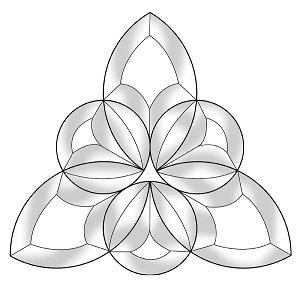 Celtic Tri-Circle Bevel Cluster
