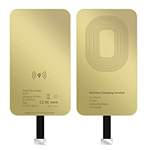 ASAKUKI iPhone Wireless Charging Receiver, Ultra-Thin Copper Coil Patch with Overvoltage Protection for Qi Wireless Charging Pads – Smart & Fast Microchip Technology for Apple Smartphone Devices
