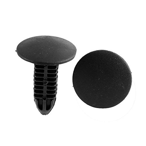 uxcell 100 x 7mm Hole Dia Plastic Rivets Fastener Push Clips Black for Car Auto Fender